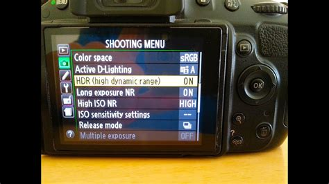 HDR Instructions - Nikon D5100 Settings (How To Use High